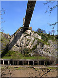 ST5673 : Clifton Suspension Bridge from the cycle path by Linda Bailey