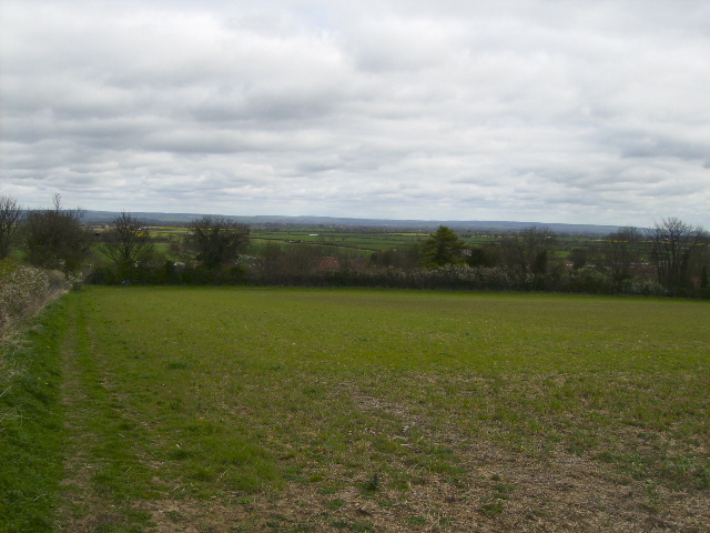 Looking over Barton-le-Street into the Vale of Pickering