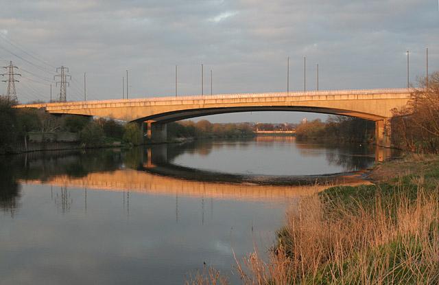 Clifton Bridge in the sunset