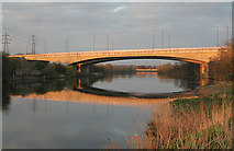 SK5636 : Clifton Bridge in the sunset by Alan Murray-Rust