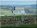 NY8163 : Road signs at junction by 27th Newcastle Scouts