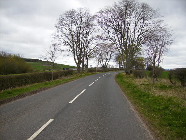The B6401 road near Marlefield