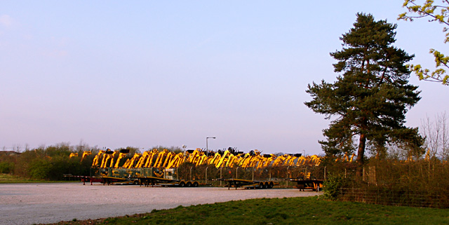 Diggers at sunset