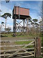 NZ0959 : Water tower on Currock Hill by Oliver Dixon