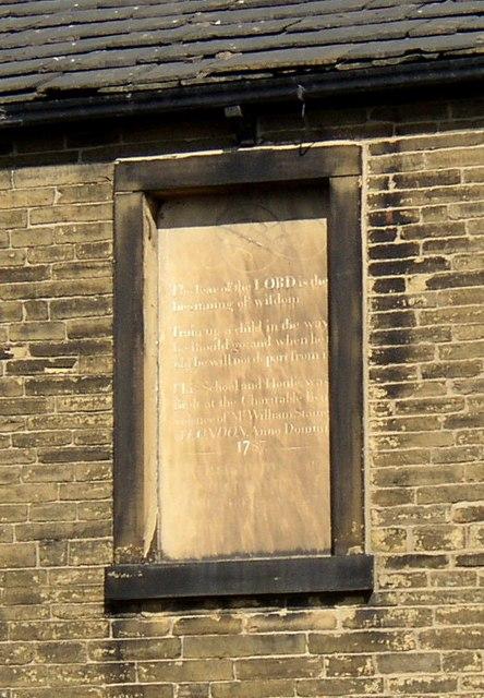 Plaque on Lady Royd, Brookfoot Lane, Southowram