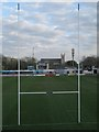 O1731 : View between the posts at Leinster Rugby Ground by Doug Lee