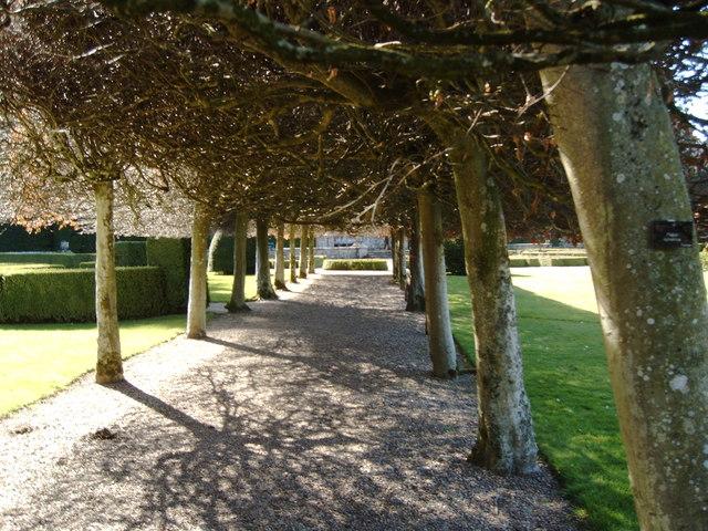 Glamis Castle Italian Garden