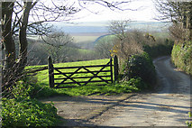 SS2317 : A lane in Darracott, Welcombe by Nigel Smith