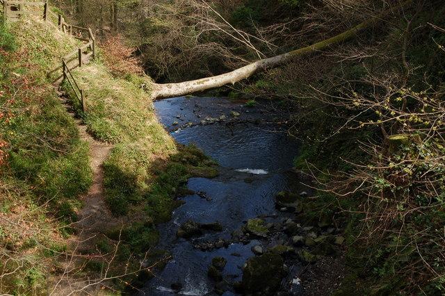 Above Glenoe waterfall (2)
