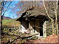 NN9459 : Ruined cottage, Moulin by Jackie Proven