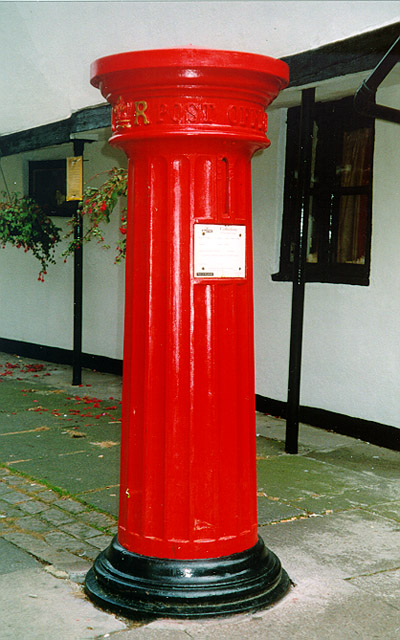 Pillar box in High Street, Eton
