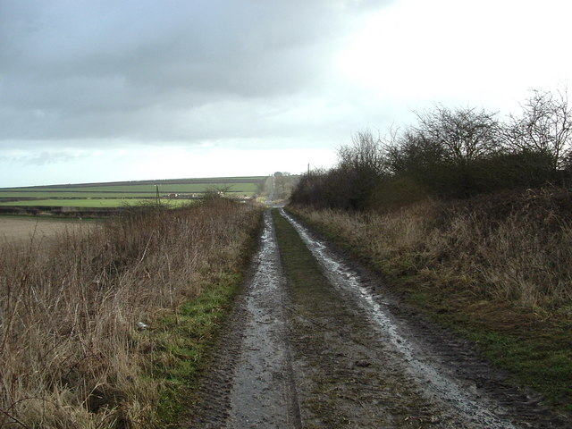 Roman Road - York to Bridlington - at West Field, Kilham