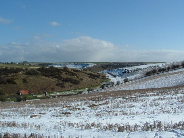 Cotton Dale, Staxton Wold to the left of shot