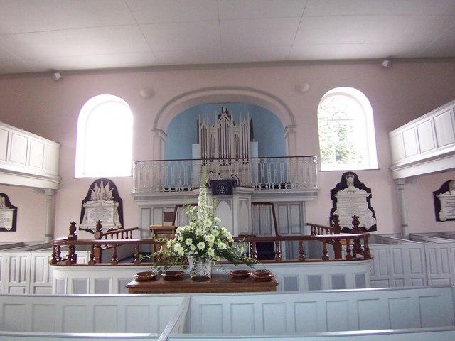 Interior of First Dunmurry (non-Subscribing) Presbyterian Church