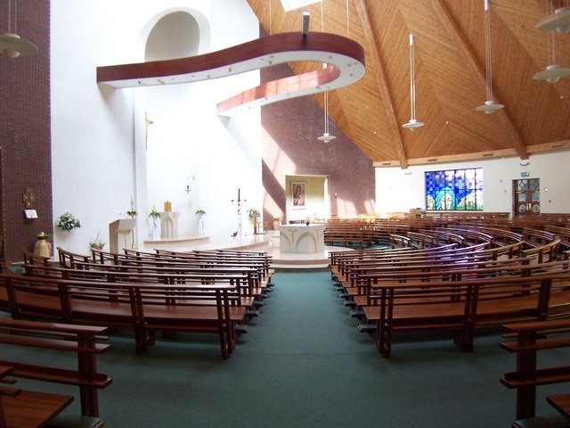 Interior of the Church of Our Lady Queen of Peace Dunmurry