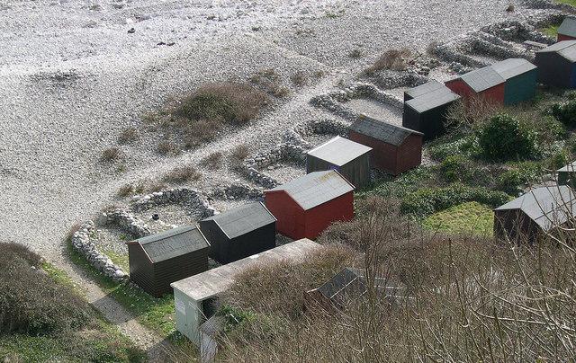 Beach huts  Church Ope Cove