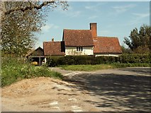 TM0949 : The farmhouse at Westleygreen Farm by Robert Edwards