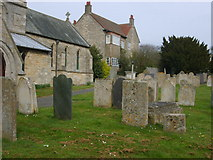SK9324 : Churchyard of St John the Baptist, Colsterworth by William Metcalfe