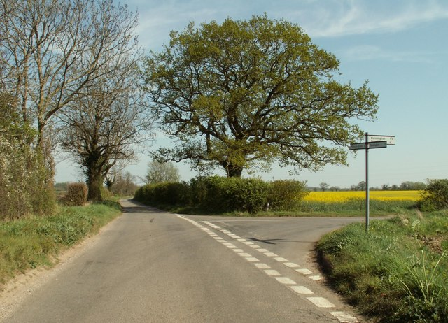 Road junction, just east of Tannington