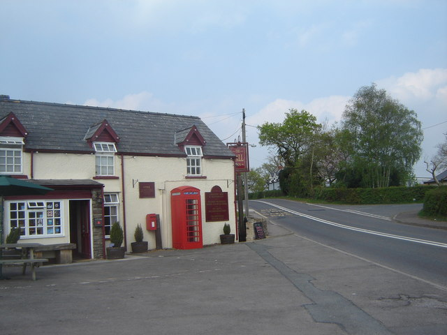 The Hall Inn, plus telephone box