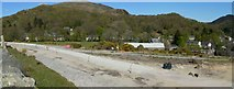 SH5848 : The Construction of Beddgelert Station on the Welsh Highland Railway by Stephen Elwyn RODDICK