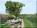 SO7689 : Fly Tipping. Wooton, Shropshire by Roger  Kidd