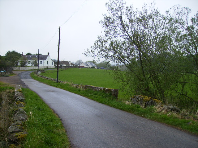 The lane just off the A76 road at Stepends