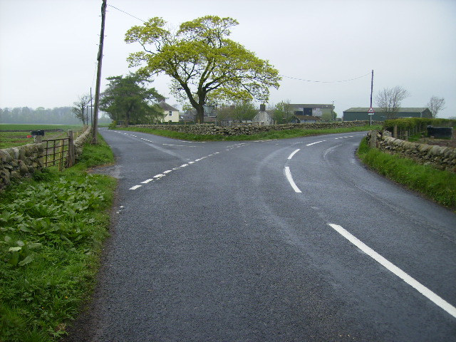 Junction on the B729 at Nether Gribton