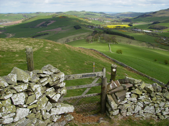 Gated section on St.Cuthbert's Way long distance footpath
