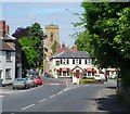 SJ4006 : Pontesbury - Red Lion Inn and St Georges Church by Andrew Bennett