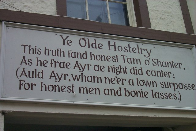 Tam O'Shanter Inn - Sign