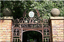 ST5071 : Entrance gate from the nursery garden by Ray Beer