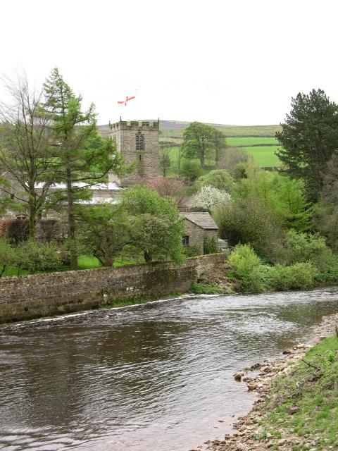 River and Church at Grinton