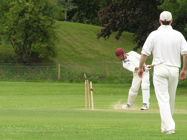 Cricket at Colney Lane Playing Fields UEA