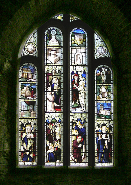 Church Window at St Morwenna and St John the Baptist's