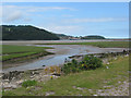 SH8076 : Conwy estuary, castle and bridge from RSPB reserve by Pauline E