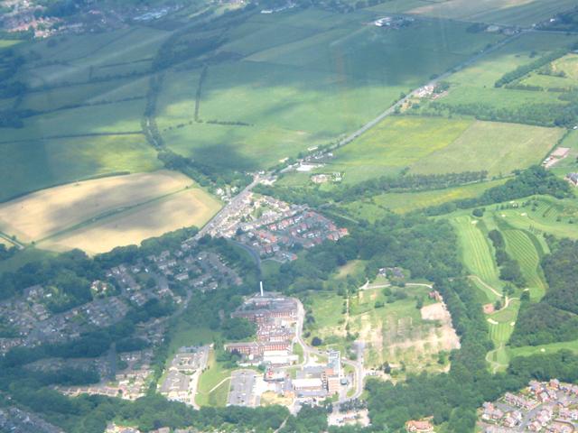 Shotley Bridge Hospital and surrounding area
