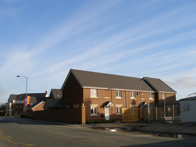 New housing on a brownfield site