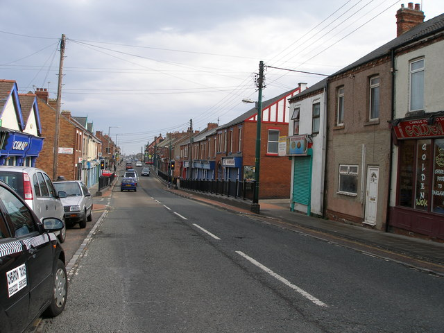 The main street at Blackhall Colliery