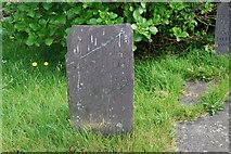 SH4239 : Carreg fedd - Gravestone Llanarmon by Alan Fryer