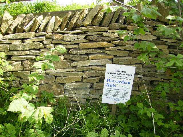 Recent stone walling conservation work in The Howardian Hills AONB