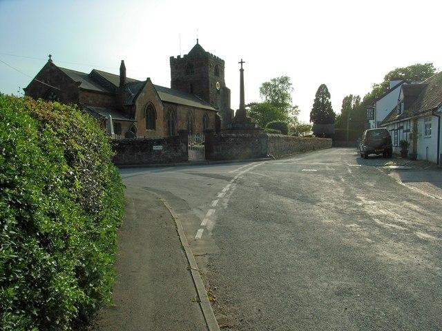 The New Inn and All Saints Church, Baschurch