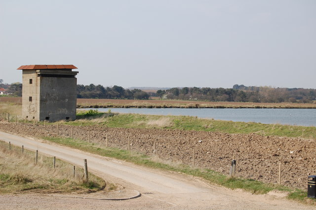 Fire control tower at East Lane Battery, Bawdsey