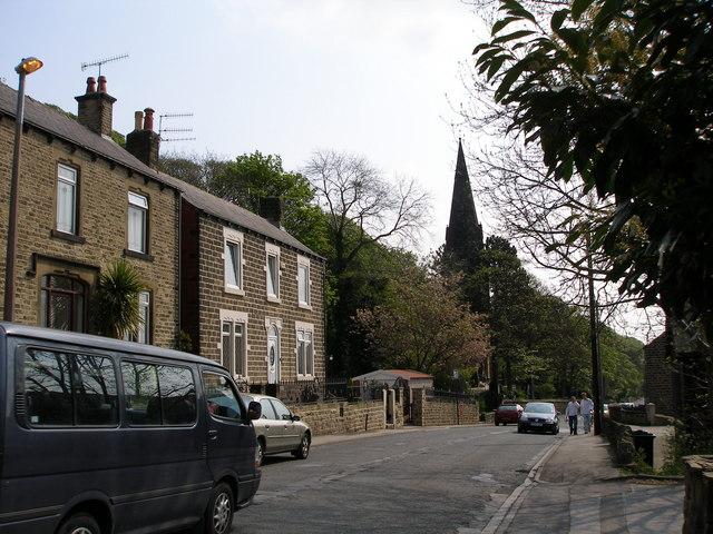 Bank End Road towards St Thomas' Church