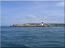 SY6768 : Portland Bill Lighthouse from the sea by M Etherington