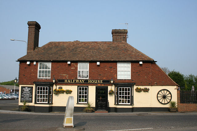 The Halfway House Pub at the Challock roundabout