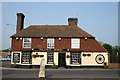 TR0150 : The Halfway House Pub at the Challock roundabout by Jacqui Sadler