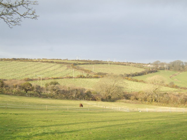 View over Cornish countryside