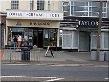 SD4364 : Brucciani's ice cream parlour on Marine Road Central by Joe Regan