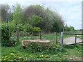 NZ3033 : Stile and public footpath by Bill Henderson